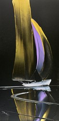 Golden Sails II by Duncan MacGregor - Original Painting on Board sized 12x24 inches. Available from Whitewall Galleries